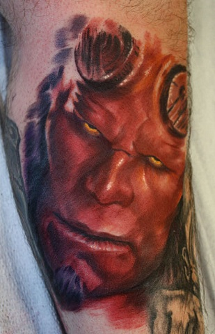Hellboy Eric James tattoo