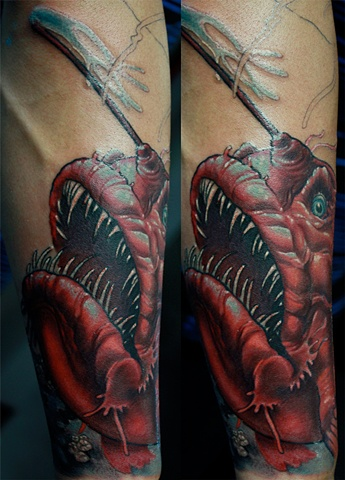 Angler fish Tattoo Eric James tattoos