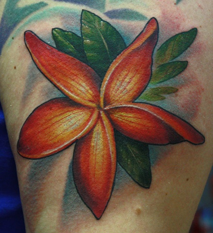 Eric James tattoo Phoenix Arizona art flower tattoo