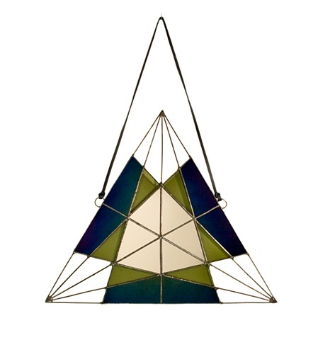 Iridescent Triangle Mirror