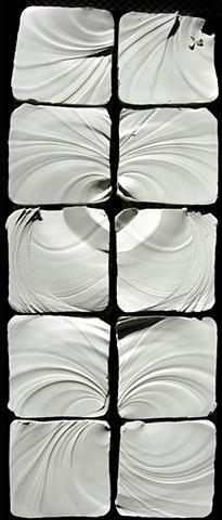 Meditation tiles I, white