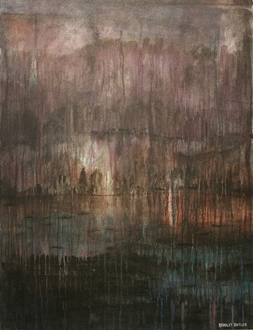The Painting, In The Earliest of Hours is part of Bradley Butler's on-going series called A Glimpse Beyond The Real.