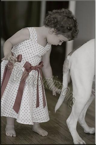 karen george mortiomore, spur of the moment, child, dog, wedding