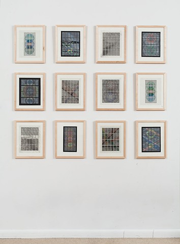 """""""In Formation Drawings"""" Installation Shot at the Muroff Kotler Gallery, SUNY Ulster"""