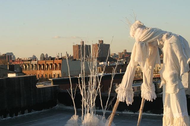 stilts, habitat, urban ecology, mythological creature, bread and puppet