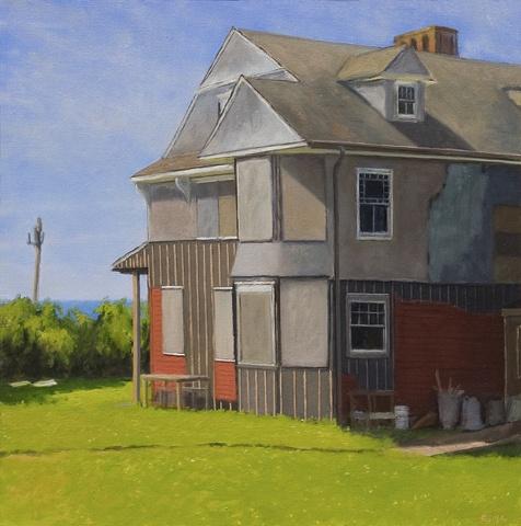 Landscape plein air painting