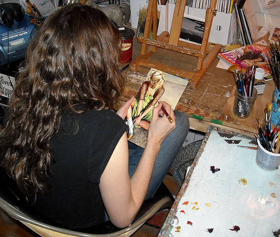Amanda Besl's Studio in Buffalo, New York