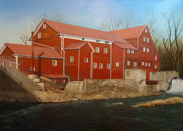 """Winter Thaw"" - Old Red Mill, Claverack Creek"