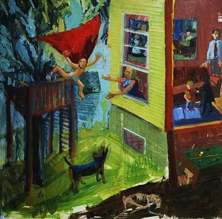 casein painting superhero ashley norwood cooper narrative