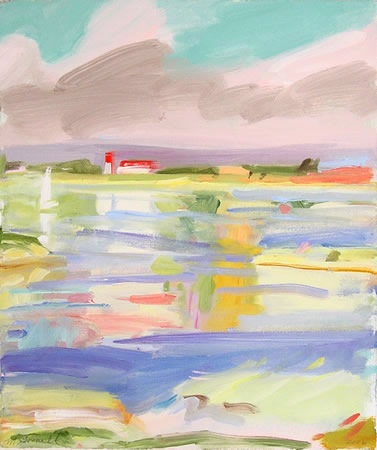 Landscape painting of Moriches Bay by Margery Gosnell-Qua