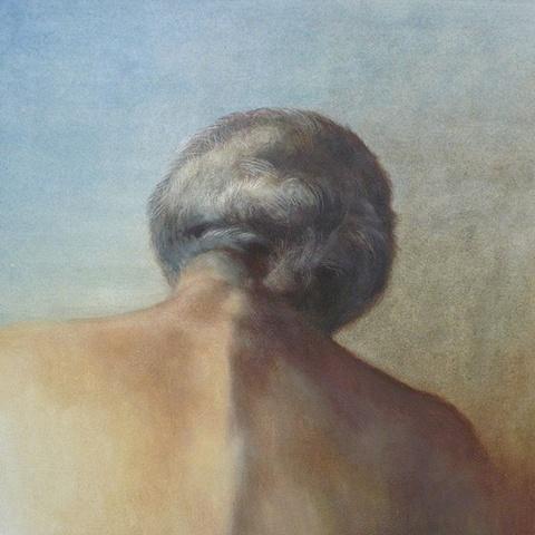 Elizabeth Malunowicz elderly, eighties, oil on panel potrait