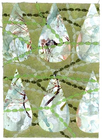 batik painting on paper, Amy Madden, Hudson NY, amyemadden, Amy E Madden, artist, sewn painting, mixed media art