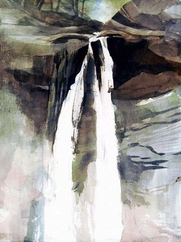 Plattekill Falls, Field Painting