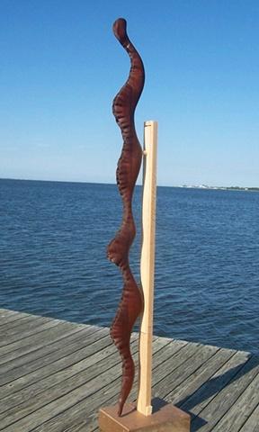 Sculpture, wood carving, art, water, fluid, movement, sea, organism, snake