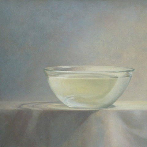 Elizabeth Malunowicz bowl, collective tears, still life oil on canvas