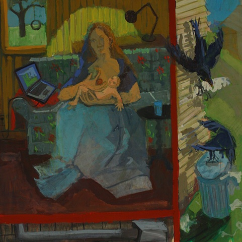 madonna of tlaptop casein painting ashley norwood cooper