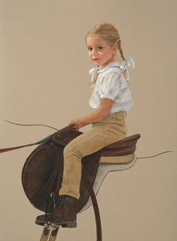 Caroline, a portrait of a young rider.