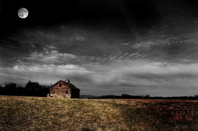Moon and Barn