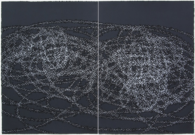Claire Lesemann, The Way Between, drawing, 2010