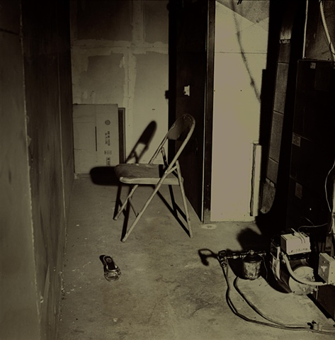 Potential crime scene photographed in the Wolf Khan Barn at the Vermont Studio Center