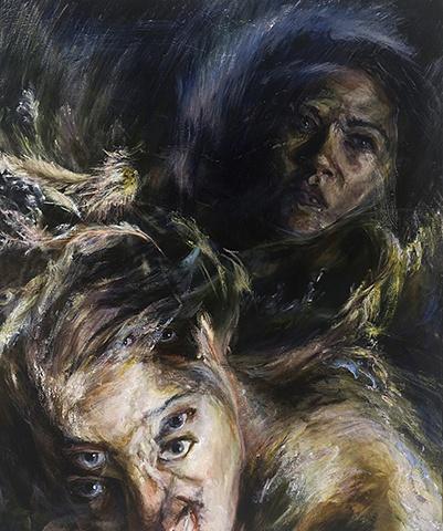 "Amy Swartele - 'Undertow' 2008 36"" x 30"""