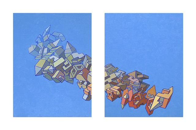 Split Skyship (Diptych)