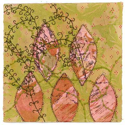 batik painting on paper, Amy Madden, Hudson NY, amyemadden, Amy E Madden, artist, sewn painting, mixed media art