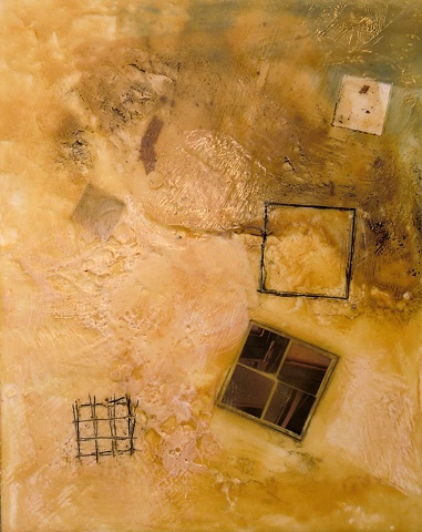 art encaustic collage artist penny wax paper heat