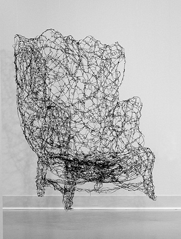 wire, words, wire sculpture, aging, isolation