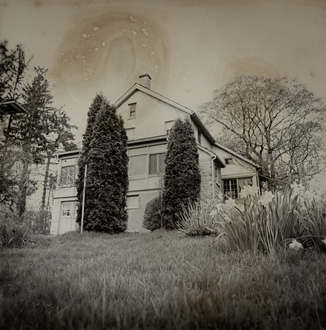 Jim Evenson's home in Ithaca, New York, shot from the back yard