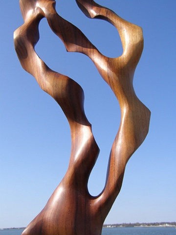 wood carving, sculpture, art, water, flow, current