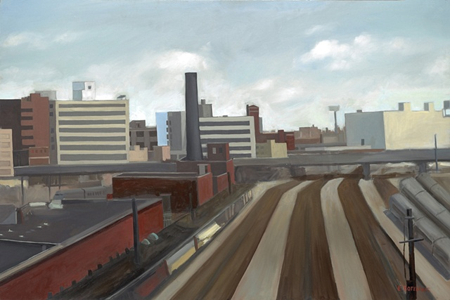 Elena Soterakis, Train Yard, Long Island City