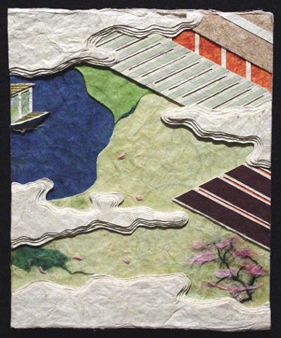 "Kocho (Butterflies) 2009 Paper relief, 6"" x 5"""