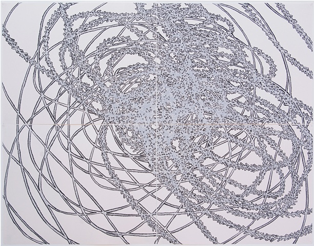 Claire Lesemann, Paths and Routes, drawing, 2010