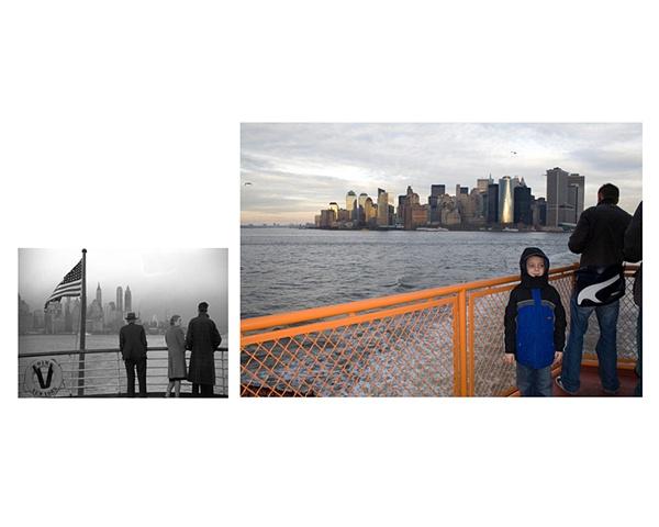 "Staten Island Ferry leaving Manhattan  1941 & 2006 Gelatin Silver print and Digital C-print 8"" x 10"" and 20"" x 26"""