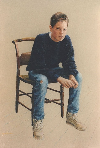Portrait of a young teenager.