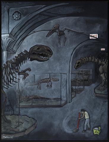 museum of natural history, dinosaur bones