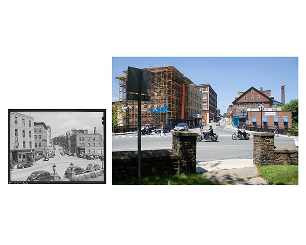 "Main Street Brattleboro, Vermont  1941 & 2006 Gelatin Silver print and Digital C-print 8"" x 10"" and 20"" x 26"""