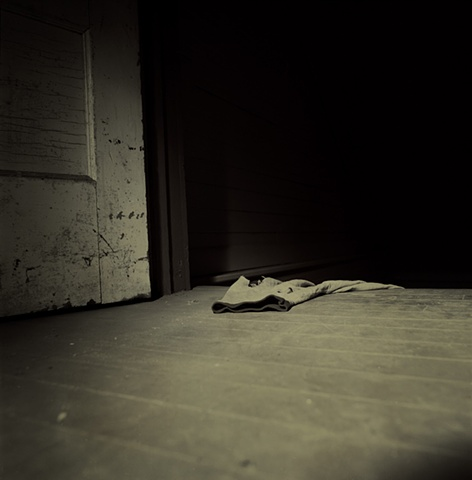 Crime scene photographed in Wolf Khan Barn at the Vermont Studio Center