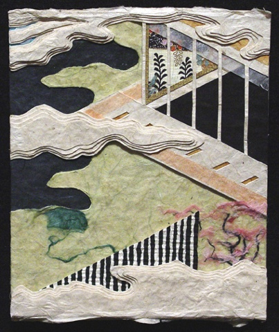 "Minori (The Rites) 2009 Paper relief, 6"" x 5"""