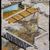"""Nowaki (The Typhoon) 2009 Paper relief, 6"""" x 5"""""""