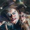 "Amy Swartele - 'Dark Water' 2008 48"" x 72"""
