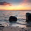 JoAnne Dumas  Sunset with Rocks