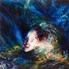 "Amy Swartele - 'Burst Egg'   2009  52"" x 76"""