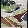 """Wakamurasaki (Young Murasaki) 2009 Paper relief, 6"""" x 5"""""""
