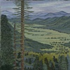 "KawuneecheValley, Rocky Mt National Park (24""x24"")"