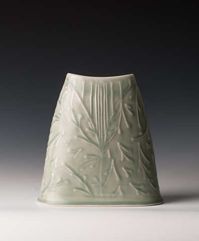 Monochrome Ovalled Vase