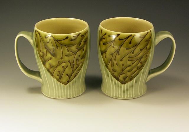 floral slim mugs