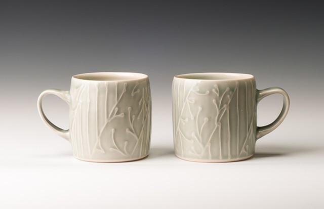 Monochrome Cylinder Mugs