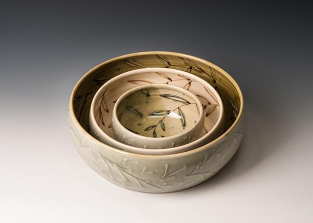 Nesting Flat-bottomed Bowls